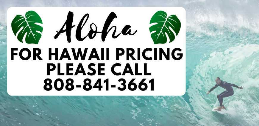 Hawaii Pricing