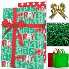 Four different gift boxes to showcase the holiday packaging designs.