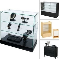 Display your products in showcases from small, medium, and tall.