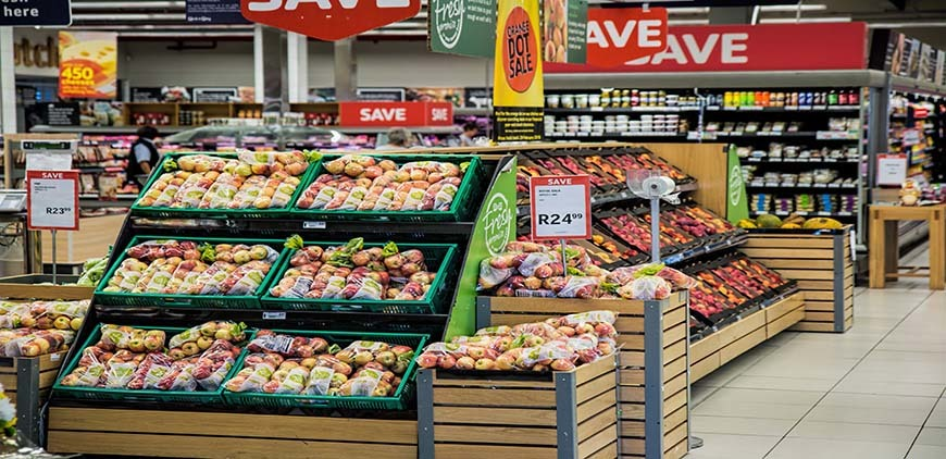 Convenience Store Displaying fruits for sale