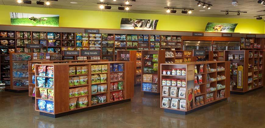 Insde of a Pet Store full of pet supplies