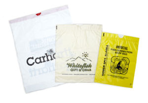Personalized Lo-Density Plastic Draw Tape Bags