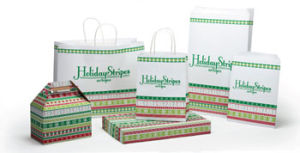 Holiday Stripes Design Packaging