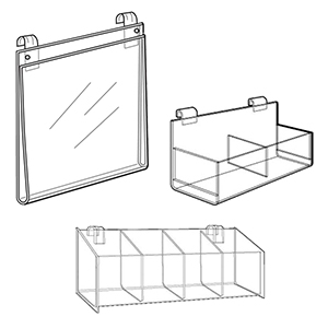 Gridwall Acrylic Accessories