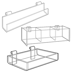 Gridwall Display Trays & Bins