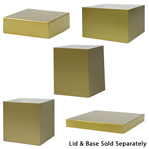 Gold Gift Boxes with Lids
