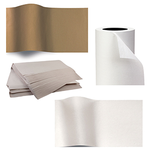 Brown & White Tissue Paper