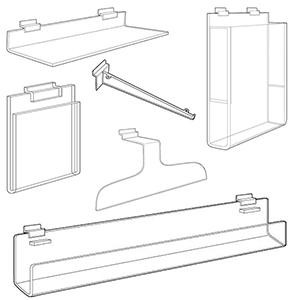 Slatwall Acrylic Accessories