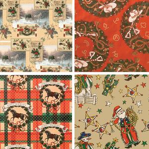 Christmas Western Gift Wrap