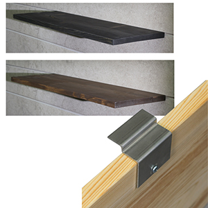 Floating Slatwall Shelves