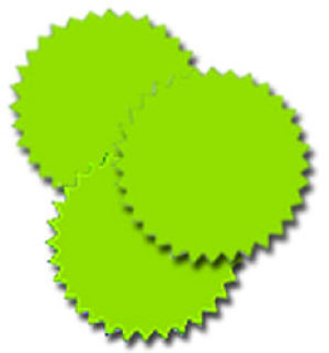 Fluorescent Starburst Labels