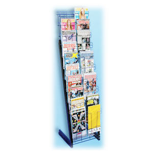 Black 20 Pocket Magazine Merchandiser