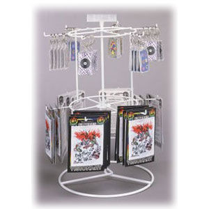 2 Tier Counter Spinner Display with 12 Pegs