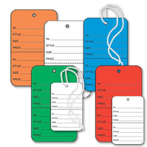 Apparel Tags Colored with Perforation