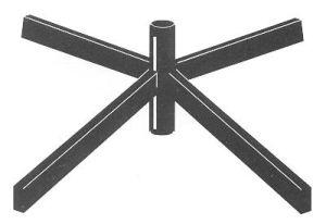 Tubular Steel Floor Base