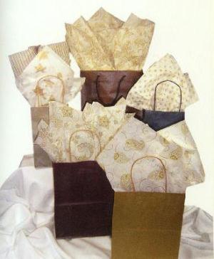 Precious Metal Patterns Printed Tissue Paper
