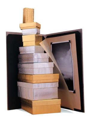 Silver and Gold Foil Jewelry Boxes