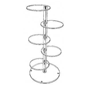 Vertical Acrylic Tower with 5 Platforms