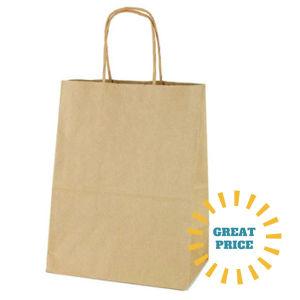 Economy Kraft Shopping Bags
