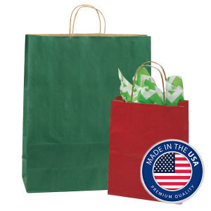 Shadow Stripe Colored Shopping Bags