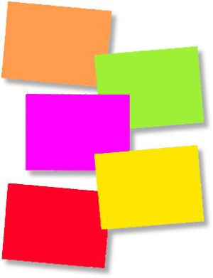 Rectangle Blank Fluorescent Sign Cards