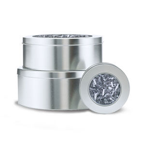 Solid Tins with PET Window