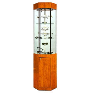 Hexagon Revolving Tower Display Case with Storage