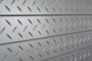 Diamond Plate Textured Slatwall