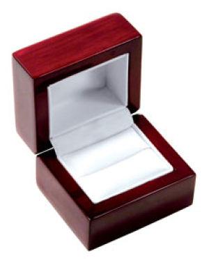 Rosewood Veneer Hinged Jewelry Boxes