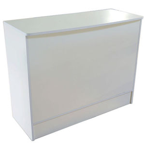 """White Wrap Counter 48""""x20""""x38"""""""