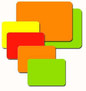 Fluorescent Rectangle Labels