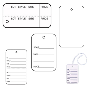 White Rectangle Clothing Tags
