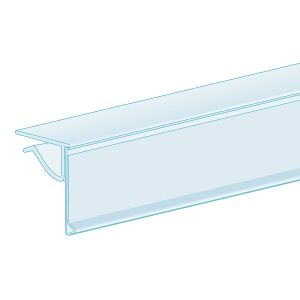 """0.25"""" – 0.375"""" Thick Shelf, Clip-Over, Hinged 1.25""""H, Ticket molding"""