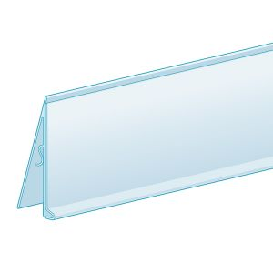 """C-Channel Clip in LowProfile ClearVision Ticket Molding 1.25H x 47.625""""L"""