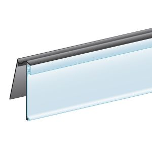 """C-Channel, Clip-In, Hinged 1.25""""H x 47.625""""L, Ticket molding"""