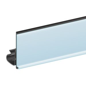 """C-Channel Clip Under ClearVision Ticket Molding 1.25H x 47.625""""L , White"""