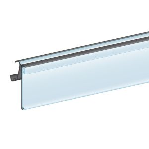 """Hussmann® Bullnose, Clip-Over, Hinged 1.25""""H, Ticket molding"""