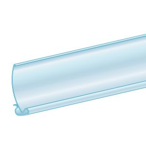 """ClearSaharaver™ Channel Protector 1.25""""H x 47.625""""L, Clear, Ticket molding"""
