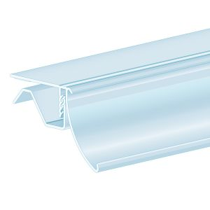 "FlexKlip® Ratchet, Glass & Single Wire Shelf Adapter 1.25""H, Ticket molding"