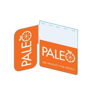 "Paleo Shelf Talker, Signature Series, 2.5""W x 1.25""H"