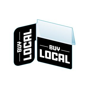 """Buy Local Shelf Talker with Right Angle Flag, 2.5""""W x 1.25""""H"""