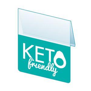 """Keto Friendly Shelf Talker, 2.5""""W x 1.25""""H"""