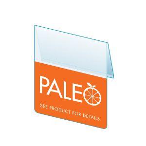 """Paleo Shelf Talker, 2.5""""W x 1.25""""H"""