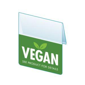 """Vegan Shelf Talker, 2.5""""W x 1.25""""H"""