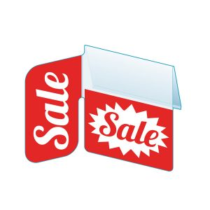 """Sale Shelf Talker with Right Angle Flag, 2.5""""W x 1.25""""H"""