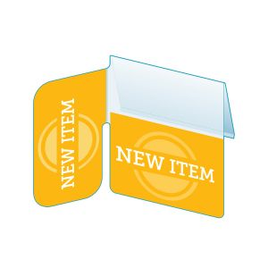 """New Item Shelf Talker with Right Angle Flag, 2.5""""W x 1.25""""H"""
