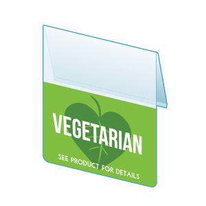 "Vegetarian Shelf Talker, 2.5""W x 1.25""H"
