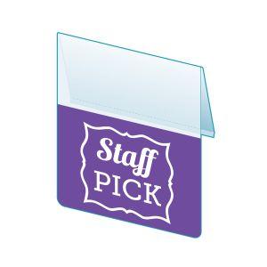 """Staff Pick Shelf Talker, 2.5""""W x 1.25""""H"""
