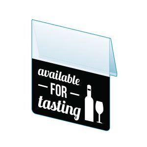 "Available for Tasting Shelf Talker, 2.5""W x 1.25""H"