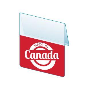 """Made In Canada Shelf Talker, 2.5""""W x 1.25""""H"""